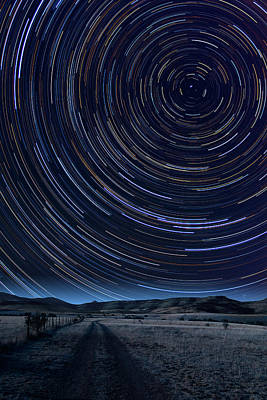Texas Star Trails Poster by Larry Landolfi