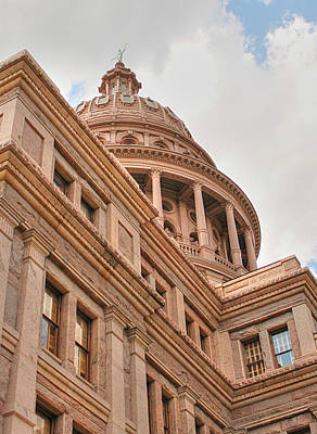 Texas State Capitol Building In Austin IIi Poster by Sarah Broadmeadow-Thomas