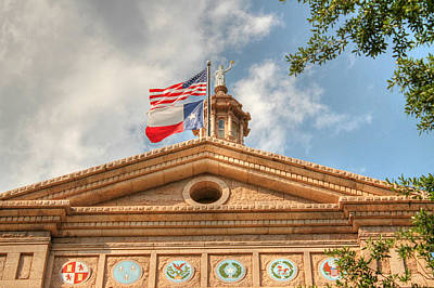 Texas State Capitol Building In Hdr Poster by Sarah Broadmeadow-Thomas