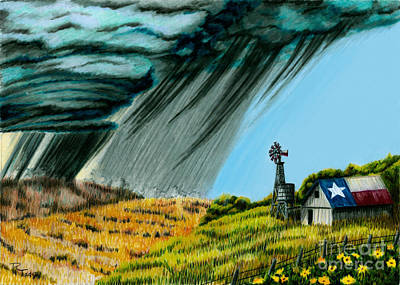 Texas Storm Poster by Robert Thornton