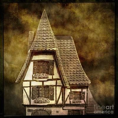 Textured House Poster by Bernard Jaubert
