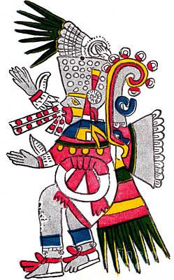 Tezcatlipoca, Aztec God Of Night, Codex Poster