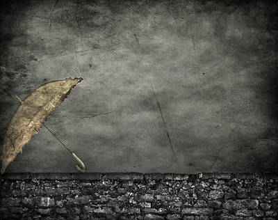 Th E Red Umbrella Poster by Empty Wall