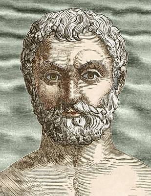 Thales, Ancient Greek Philosopher Poster by Sheila Terry