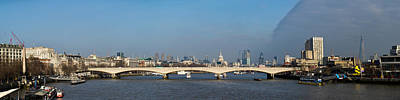 Thames Panorama Weather Front Clearing Poster by Gary Eason