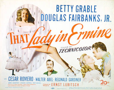 That Lady In Ermine, Betty Grable Poster by Everett