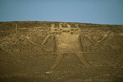 The 282-foot-tall El Gigante Geoglyph Poster by Joel Sartore