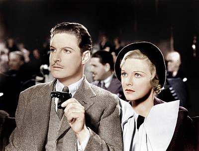 The 39 Steps, From Left Robert Donat Poster by Everett