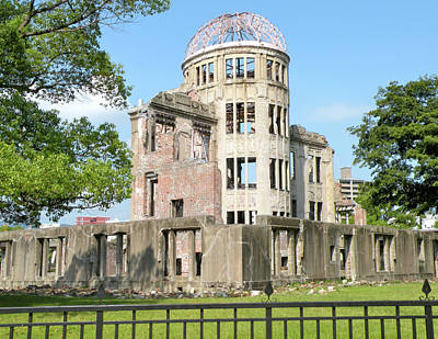 The A-bomb Dome In Hiroshima Poster by Jessica Estrada