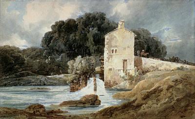 The Abbey Mill - Knaresborough Poster by Thomas Girtin