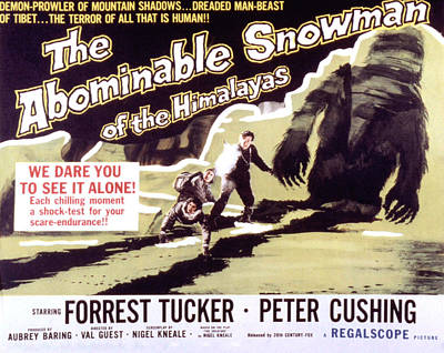 The Abominable Snowman, Aka The Poster