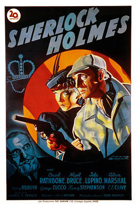 The Adventures Of Sherlock Holmes Poster by Everett