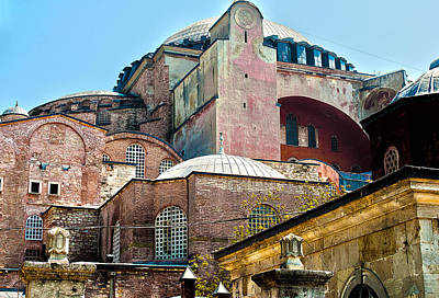 Poster featuring the digital art The Ancient Hagia Sophia by MaryJane Armstrong