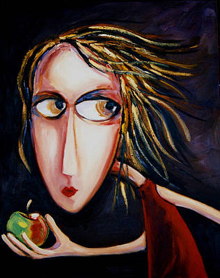 Poster featuring the painting The Apple by Leanne Wilkes