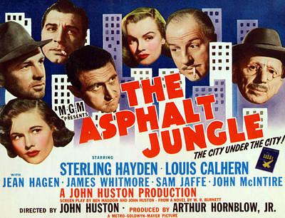 The Asphalt Jungle, From Bottom Left Poster by Everett