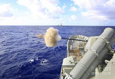 The Australian Navy Frigate Hmas Poster by Stocktrek Images