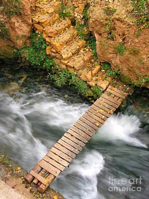 The Autumn Bridge Poster by Issam Hajjar