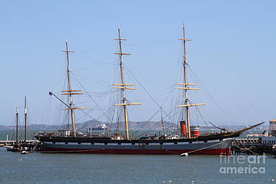 The Balclutha . A 1886 Square Rigged Cargo Ship At The Hyde Street Pier In Sf California . 7d14069 Poster by Wingsdomain Art and Photography