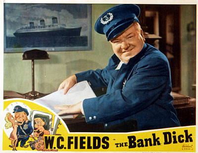 The Bank Dick, W.c. Fields, 1940 Poster by Everett