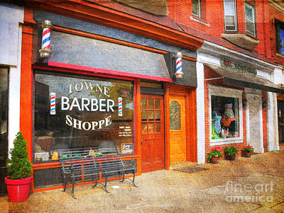 The Barber Shop Poster by Paul Ward