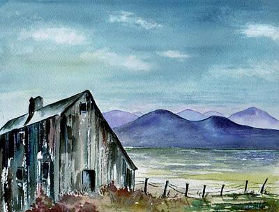 The Barn At Dusk Poster by Brenda Owen