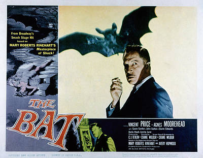 The Bat, Vincent Price, 1959 Poster