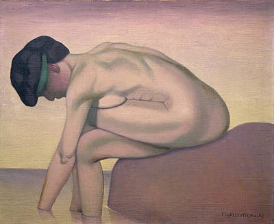The Bather Poster by Felix Edouard Vallotton