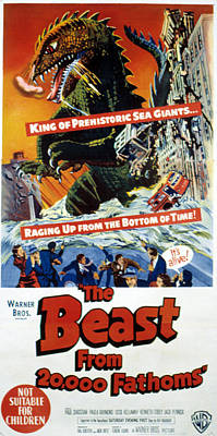 The Beast From 20,000 Fathoms, The, 1953 Poster by Everett