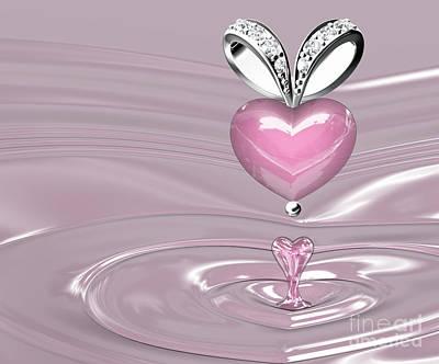 The Beauty Rose Quartz Pendant Poster