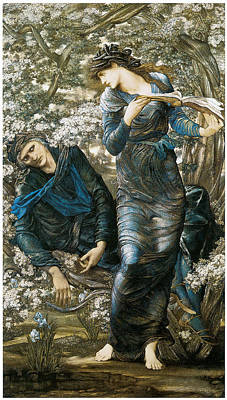 The Beguiling Of Merlin Poster by Edward Burne-Jones