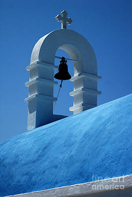 The Bell Tower In Mykonos Poster by Vivian Christopher