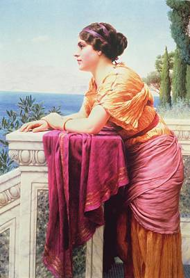 The Belvedere Poster by John William Godward