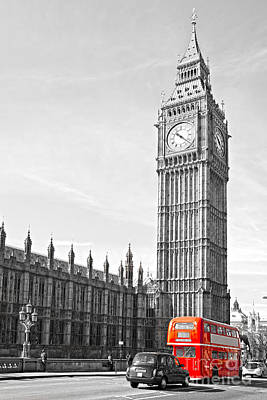 Poster featuring the photograph The Big Ben - London by Luciano Mortula