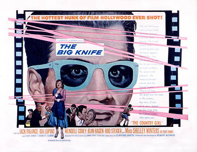 The Big Knife, Jack Palance, Ida Poster by Everett