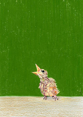 The Birdie Poster by Albert Notarbartolo