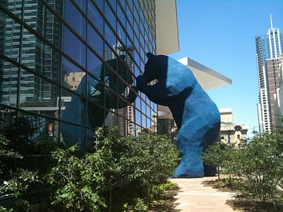 The Blue Bear Of Denver Colorado Poster