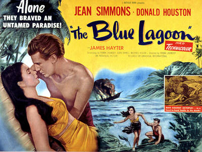 The Blue Lagoon, Jean Simmons, Donald Poster by Everett