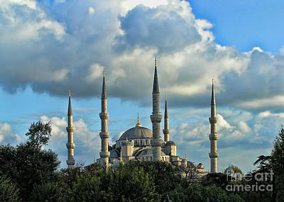 The Blue Mosque Sultanahmet Camii  Poster by Alexandra Jordankova