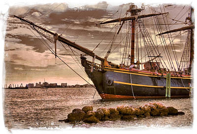 The Bow Of The Hms Bounty Poster by Debra and Dave Vanderlaan