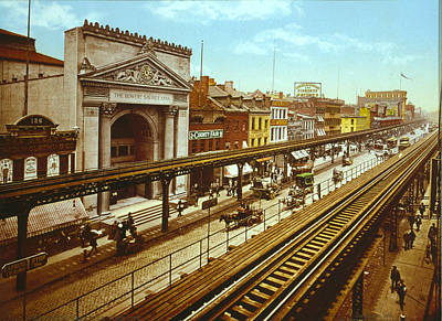 The Bowery, The Third Avenue Elevated Poster