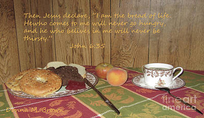 The Bread Of Life Poster by Donna Brown