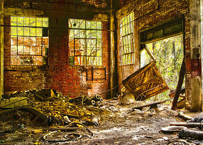 Poster featuring the photograph The Brick Room by Kimberleigh Ladd