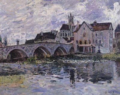 The Bridge Of Moret Sur Loing Poster by Claude Monet