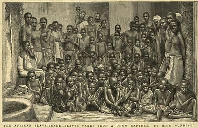 The British Navy Intercepted Slave Poster