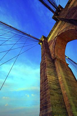The Brooklyn Bridge Poster by Rick Berk