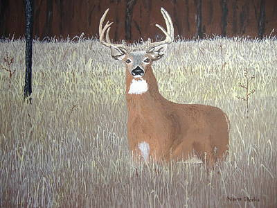 Poster featuring the painting The Buck Stops Here by Norm Starks