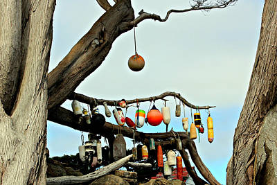 Poster featuring the photograph The Buoy Tree by Jo Sheehan