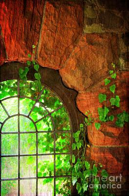 The Castle Window 1 Poster by Paul Ward