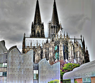 The Cathedral In Cologne On The Rhine Poster
