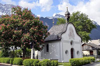 The Chapel In Alps Poster